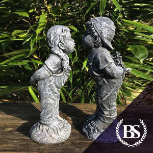 Kissing Boy & Girl - Garden Ornament Mould | Brightstone Moulds