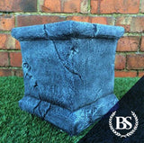 Weathered Plinth - Garden Ornament Mould | Brightstone Moulds