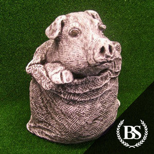Pig in Basket - Garden Ornament Mould | Brightstone Moulds