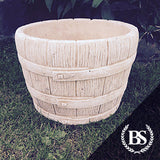 Rustic Barrel Garden Planter