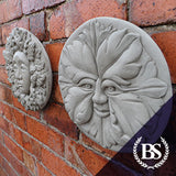 Round Green Man & Woman Plaque