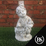 Boy with Dog - Garden Ornament Mould | Brightstone Moulds