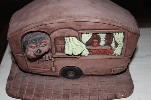 hedgehog in a caravan latex & fibreglass outer mould/mold