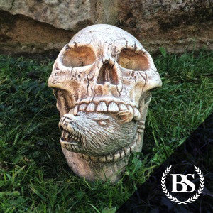 Skull & Rat - Garden Ornament Mould | Brightstone Moulds