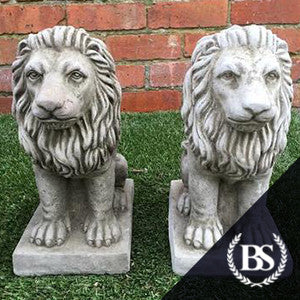 Pair of Small Proud Lions Ornament