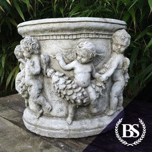 Large Cherub Planter - Garden Ornament Mould | Brightstone Moulds
