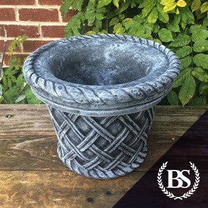 Round Wicker Planter - Garden Ornament Mould | Brightstone Moulds