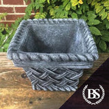 Square Wicker Planter - Garden Ornament Mould | Brightstone Moulds