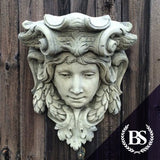 Large Face Wall Planter - Garden Ornament Mould | Brightstone Moulds