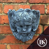 Cherub Face Wall Planter - Garden Ornament Mould | Brightstone Moulds