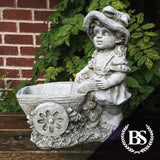 Wheel Barrow Girl - Garden Ornament Mould | Brightstone Moulds