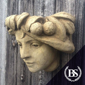 Art Nouveau Face Wall Planter - Garden Ornament Mould | Brightstone Moulds
