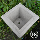 Square Gothic Planter - Garden Ornament Mould | Brightstone Moulds