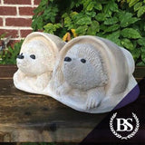 Hedgehogs in Pots - Garden Ornament Mould | Brightstone Moulds