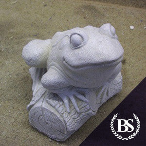 Frog on Log - Garden Ornament Mould | Brightstone Moulds