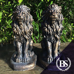 Pair of Proud Lions - Garden Ornament Mould | Brightstone Moulds