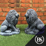 Pair of Lions - Garden Ornament Mould | Brightstone Moulds