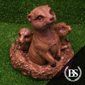 Meerkat Family - Garden Ornament Mould | Brightstone Moulds