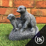 Two Meerkats - Garden Ornament Mould | Brightstone Moulds
