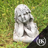 Young Girl Bust - Garden Ornament Mould | Brightstone Moulds