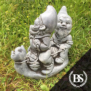 Gnomes on Snail - Garden Ornament Mould | Brightstone Moulds