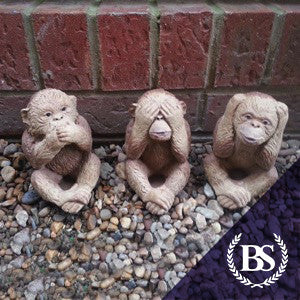 Three Wise Monkeys - Garden Ornament Mould | Brightstone Moulds
