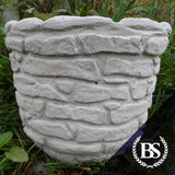 Round Brick Effect Planter - Garden Ornament Mould | Brightstone Moulds
