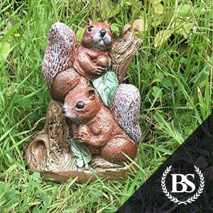 Pair of Squirrels - Garden Ornament Mould | Brightstone Moulds