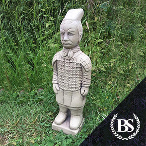 Large Terracota Warrior - Garden Ornament Mould | Brightstone Moulds
