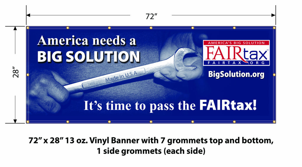 NEW FULL COLOR 6' America's Big Solution Event Banner