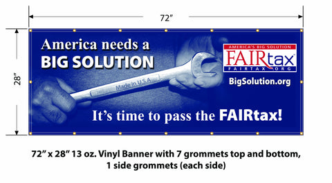 FULL COLOR 6' America's Big Solution Event Banner