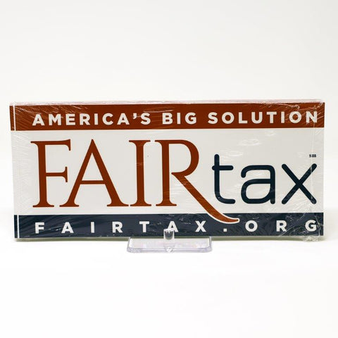 ABS Adhesive Bumper Sticker/FairTax Adhesive Bumper Stickers  (Bulk Pack)
