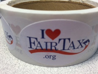 SMALL SIZE I LOVE FAIRTAX STICKERS