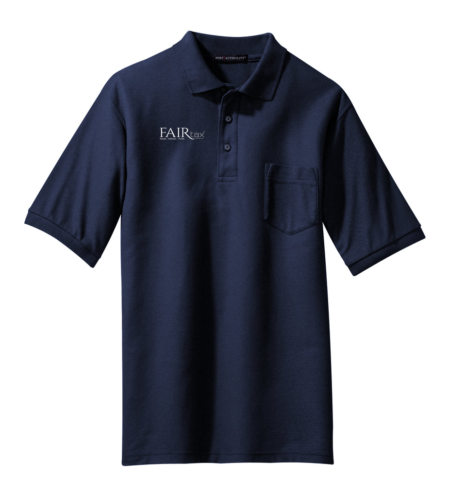 Men's Port Authority Silk Touch Polo Shirt  WITH POCKET
