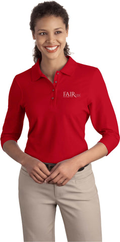 Port Authority Ladies Silk Touch 3/4 Sleeve Polo Shirt