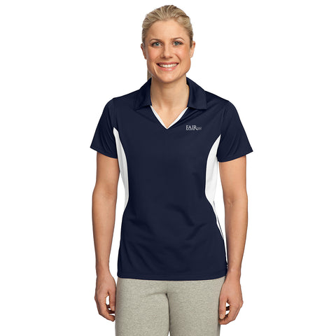 FREE TOTE BAG with purchase of each Ladies Side Blocked Micropique Sport-Wick Sport Shirt