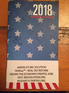 2018 America's Big Solution Pocket Calendars/Planners  Purchased without any other Store item