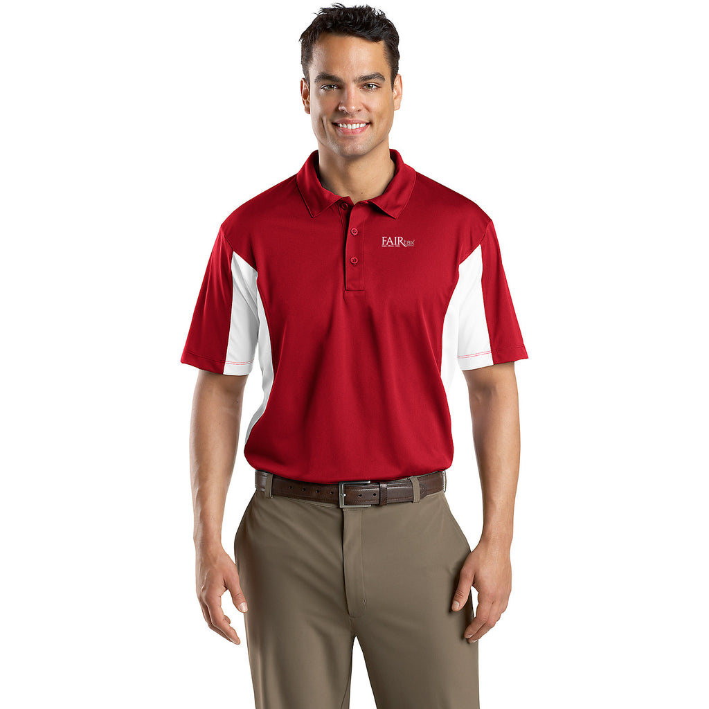 FREE TOTE BAG with purchase of Sport-Tek Side Blocked Micropique Sport-Wick Polo Shirt NEW Americas Big Solution