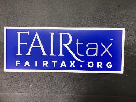 NEW National FAIRtax Vinyl Bumper Sticker