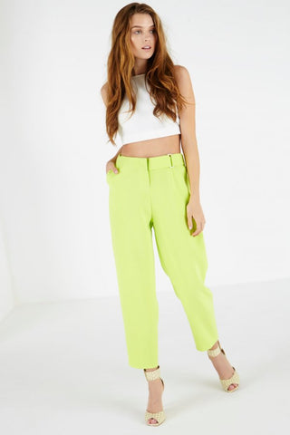 Lavish Alice Lime Green D-Ring Trousers