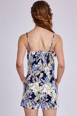 Girls On Film Tropical Print Strap Playsuit