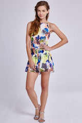 Girls On Film Chiffon Floral Playsuit