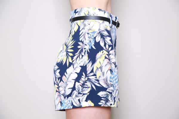 Girls On Film Tropical Print High Waisted Shorts