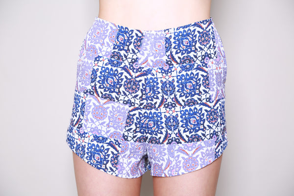 Neon Rose Tapestry Tile Shorts