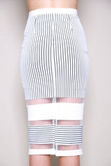 Lumier By Bariano Draw The Line Midi Skirt