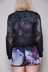 Ono Uno Silk and Mesh Bomber Style Jacket