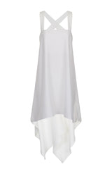 Lavish Alice White Waterfall Cross Strap Open Back Top