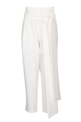 Lavish Alice White Peg Leg Belted Trousers