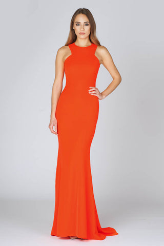Ono Uno Sunset Orange Evening Gown
