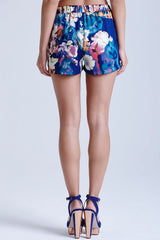 Girls On Film Floral Blue Print Shorts